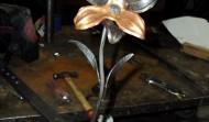 Décoration fleur en Fer Forgé