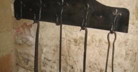 Porte ustensiles de cheminée en Fer